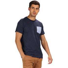 Regatta Teagan T-Shirt Men Navy/White